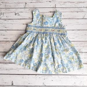 BLUEBERI BLVD Toddler Blue Floral Sun Dress 18M